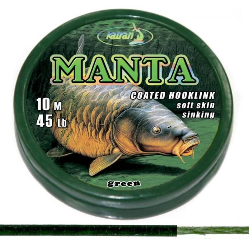 Katran MANTA Green Trenzado Recubierto 45 lb 10m
