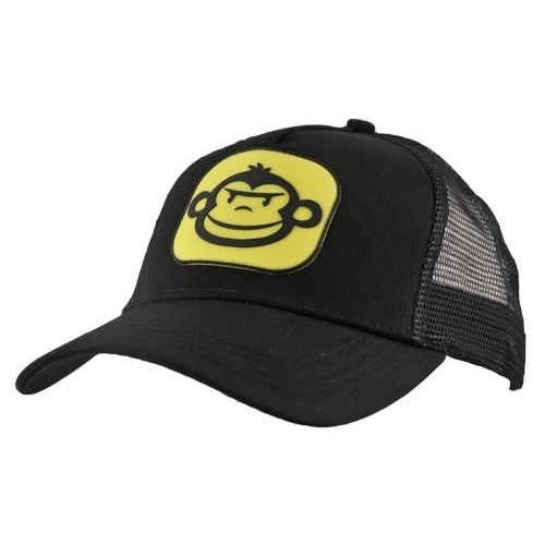 Rigemonkey Gorra Negra con logo amarilla.