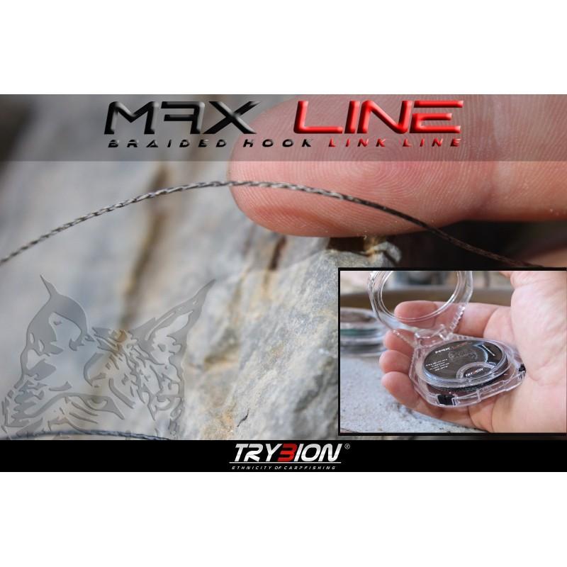 TRYBION MAX LINE trenzado anti-abrasion 25Lb 20 m Negro