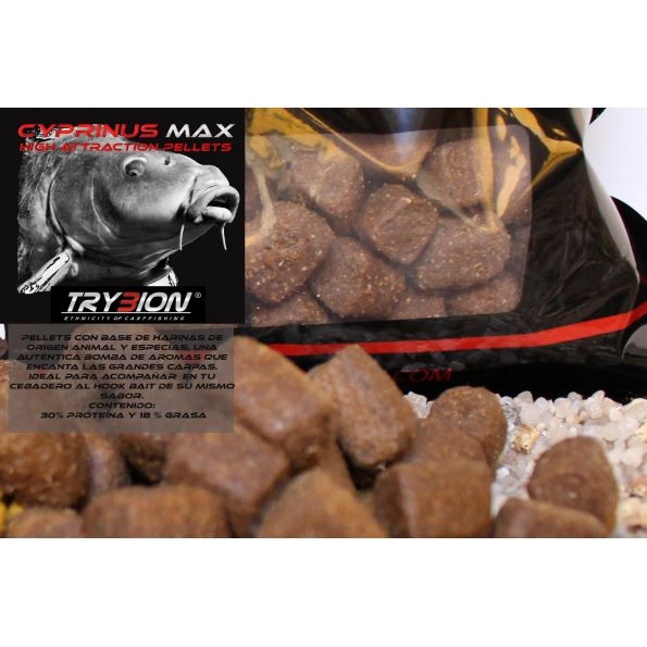 Trybion Pellet 11mm Cyprinus Max 800gr Carnico )