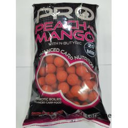 STARBAITS PROBIOTIC 20mm PEACH & MANGO BOILIES 1 KG.