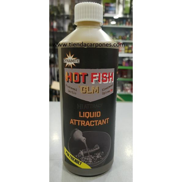 Dynamite Liquid HOT FISH GLM 500ml (pva friendly)