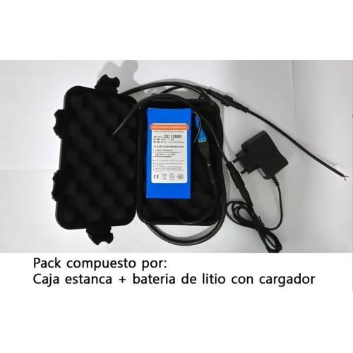 Pack bateria Litio XL 12V 15AH + caja estanca XL (Valida para Sondas lowrance,hunminbird etc..)