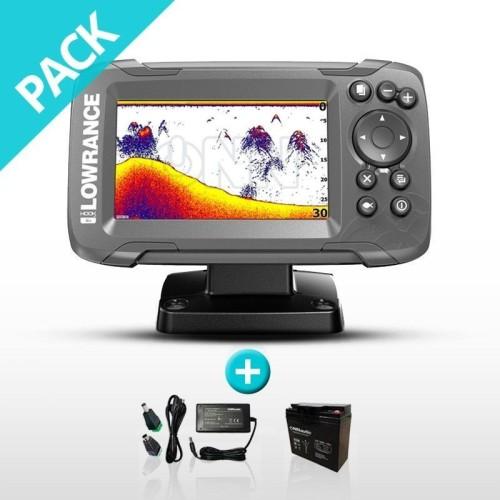 Pack Sonda Plotter Lowrance HOOK2-4x GPS Bateria
