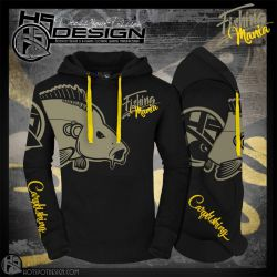 Hot Spot Sudadera Carpfishing Mania Negro n 0103004