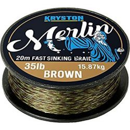 Kryston Merlin 35lb 15.87kg 20m Brown Fast sinking