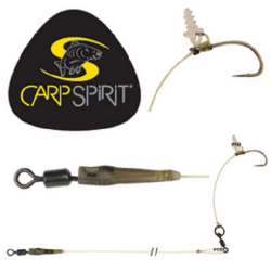 CARP SPIRIT HINGED STIFF RIG RAZOR POINT Talla 6 25lb 15lb