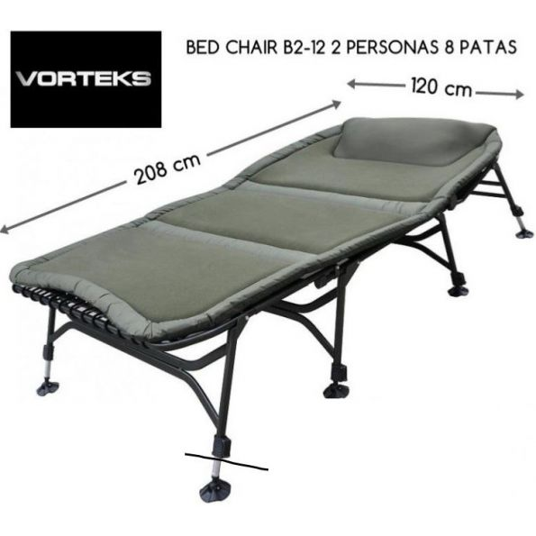VORTEKS BED CHAIR B2-12 2 PERSONAS 120 CM ANCHO 8 PATAS