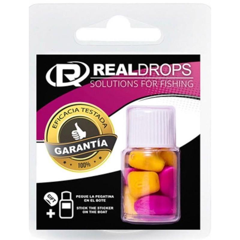 Real Drops Maiz Rojo flotante en aroma MORA 8 unid