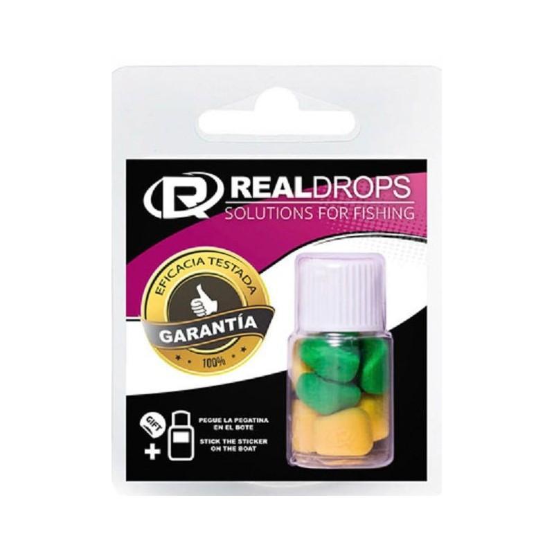 Real Drops Maiz Amarillo&Verde flotante en aroma KIWI 8unid