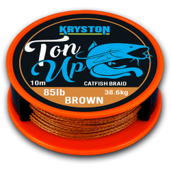Kryston Ton Up Catfish Braid 10m 85lb 38,55kg Marron