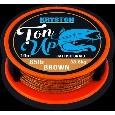 Kryston Ton Up Catfish Braid 10m 85lb 38,55kg Marron