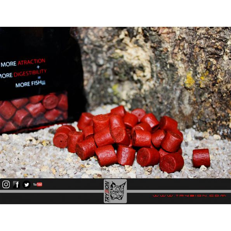 TRYBION PELLET CYPRINUS MAX 21MM 800GR (Cangrejo,Krill,Especias)