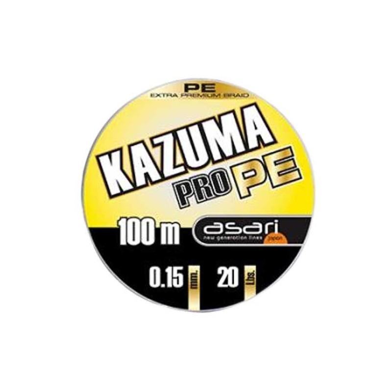 ASARI KAZUMA PRO PE 0,40 MM 100 mt 31,820 KG 70 LBS (bobinas unidas)
