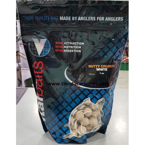 Vital Baits Boilies 14mm NUTTY CRUNCH White 1kg