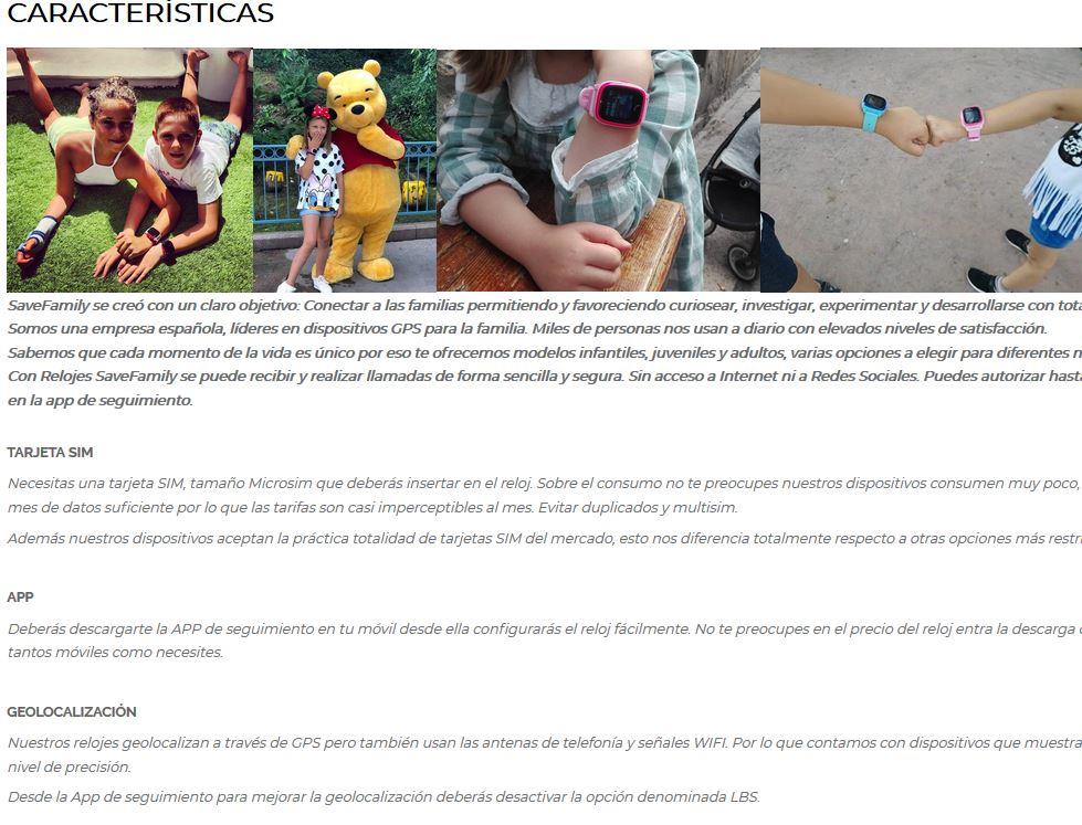 914d0b06b ACUÁTICO Y con Cámara para niños. Totalmente en castellano tanto la app de  seguimiento como la pantalla del reloj. Alta calidad. Batería de larga  duración.